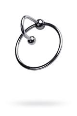 Кольцо на пенис TOYFA Metal с уретральным стоппером, серебристое, Ø4см