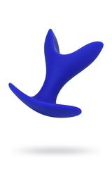 Расширяющая анальная втулка ToDo by Toyfa Bloom, силикон, синяя, 8,5 см, Ø 4,5 см