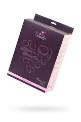 Набор для ролевых игр в стиле БДСМ Eromantica, розовый: маска, наручники, оковы, ошейник, флоггер, кляп