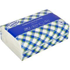 Luscan NonStop Салфетки бумажные 1слбелые цел1/4 слож 100л/пач
