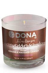 """Вкусовая массажная свеча с феромонами и ароматом """"Шоколадный мусс"""" DONA Kissable Massage Candle Choc"""