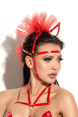 Маска с ушками Me Seduce Queen of hearts Allure, красная, OS