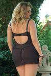 Ночная сорочка и стринги SoftLine Collection Laura, чёрные-XL
