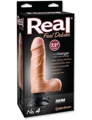 Вибромассажер реалистик на присоске Real Feel Deluxe 7.5 No. 4 водонепронецаемый