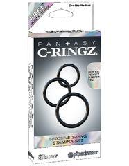Набор эрекционных колец Fantasy C-Ringz Silicone 3-Ring Stamina Set
