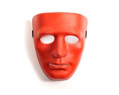 Маска (пластик) красного цвета на всё лицо
