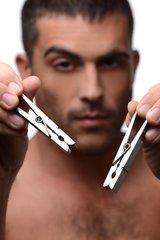 Зажимы на соски в виде бельевых прищепок Tom of Finland Bros Pin Stainless Steel Nipple C