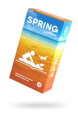 Презервативы Spring Contuor, классические, латекс, 17,5 см, 12 шт