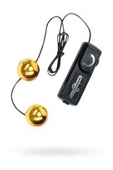Вагинальные шарики Dream Toys с вибрацией, золотистые, Ø3,5 см