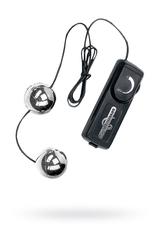 Вагинальные шарики Dream Toys с вибрацией, серебристые, Ø3,5 см