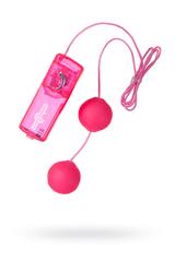 Вагинальные шарики Dream Toysс, TPE+ABS пластик, розовые, 3,6 см.