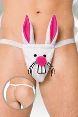 Стринги мужские Кролик SoftLine Collection, белый, S/L