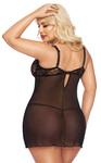 Ночная сорочка и стринги SoftLine Collection Cornelia, черный, XL