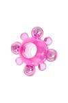 Эрекционное кольцо с бусинками TOYFA, TPE, розовый