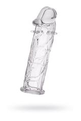 Насадка TOYFA, TPE, прозрачный, 12, 5 см