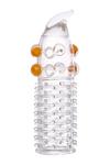 Насадка с шариками TOYFA, TPE, прозрачный, 13 см