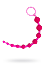 Шарики анальные TOYFA, PVC, розовый, 30 см