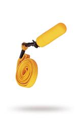 Вибропуля Sexus Funny Five с ремешком, ABS пластик, Оранжевый, 6,3 см