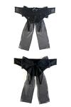 Эротические трусики Erolanta Lingerie Collection из стрейч-сетки с бантом, черные (50-52)