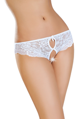 Эротические трусики Erolanta Lingerie Collection, кружевные, белые (50-52)