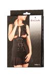 Комбинация Erolanta Lingerie Collection с открытой грудью, черная (50-52)