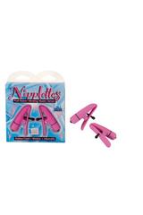 Зажимы на соски Nipplettes с вибрацией розовые