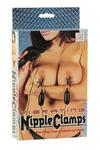 Зажимы на соски Vibrating Nipple Clamps с вибрирующими подвесками черные