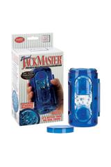 Супер-мастурбатор Travel Jackmaster гелевый голубой