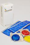 Презервативы Unilatex Multifrutis №12+3  ароматизированные ,цветные