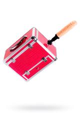 Секс-чемодан, Diva, Wiggler,металл, розовый, с двумя насадками, 17 см