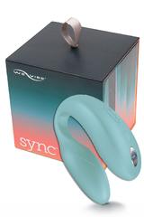 Электровибромассажер We-Vibe Sync  Aqua-Голубой, на радиоуправлении