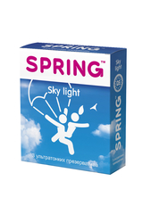 Презервативы SPRING SKY LIGHT - ультра тонкие, №3 ШТ