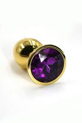 Анальная пробка из аллюминия dark purple