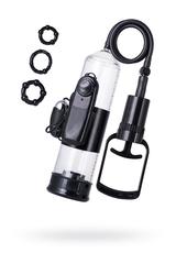 Помпа для пениса TOYFA A-Toys с вибрацией, PVC, чёрный, 22,8 см
