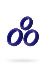 Эрекционное кольцо на пенис TOYFA A-Toys, Силикон, Фиолетовый, Ø4,5/3,8/3,2 см