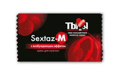 Крем возбуждающий Ты и Я  ''Sextaz-M'' для мужчин 1,5г,20 шт в упаковке