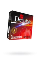 Презервативы Luxe DOMINO Classics земляника, 18 см., 3 шт. в упаковке