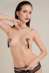 Пэстис Waname Apparel Hearts with tassels в форме сердец с кисточками золотисто-черные