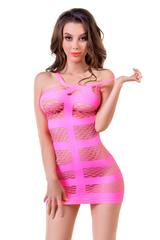 Платье-сетка Joli Miami, розовый, S/M