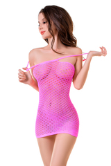 Платье-сетка Joli Malibu, розовый, L/XL