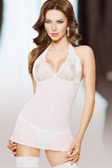 Ночная сорочка SoftLine Collection Marylin и стринги, белые, S/M