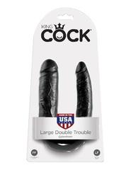 Фаллоимитатор двухголовый - безременной страпон, черный King Cock