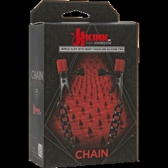 Kink - Chain - Nipple Clips with Heavy Chain and Silicone Tips Зажимы на соски