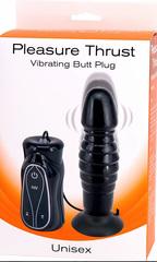 Анальный вибромассажер-пульсатор на присоске Pleasure Thrust