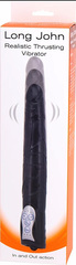 Длинный вибромассажер-пульсатор Long John Realistic Thrusting Vibrator