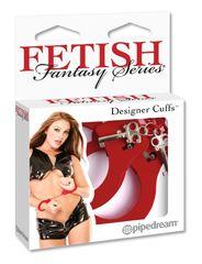 Наручники металлические Designer Cuffs красные
