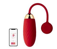 Ella Red Виброяйцо красное с функцией управления через смартфон