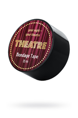 Бондажный скотч TOYFA Theatre, чёрный, 15 м.