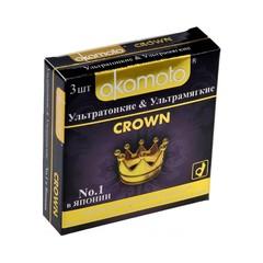 Презервативы Окамото Crown №3  Ультратонкие и ультрамягкие -ШТ