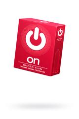 Презервативы ''ON)'' Super Thin №3 - супер тонкие (ширина 54mm)